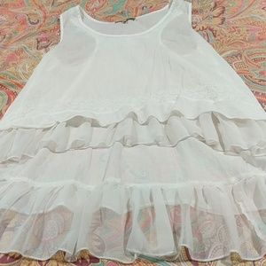 Young threads White sleeveless top size large